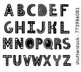 decorative alphabet in... | Shutterstock .eps vector #773986081