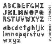decorative alphabet in...   Shutterstock .eps vector #773986084