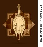 roman or greek helmet   spartan ... | Shutterstock .eps vector #773986825