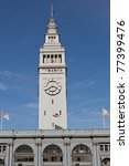 San Francisco Ferry Building is a terminal for ferries that travel across the San Francisco Bay and a shopping center - stock photo