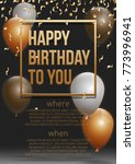 happy birthday vector... | Shutterstock .eps vector #773996941