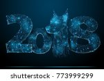abstract image of 2018 with... | Shutterstock .eps vector #773999299