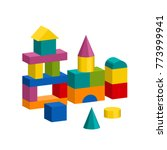 bright colorful wooden blocks... | Shutterstock .eps vector #773999941
