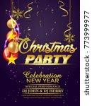 christmas flyer  25 december     Shutterstock .eps vector #773999977