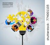idea concept for business...   Shutterstock .eps vector #774001105