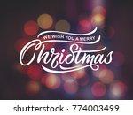merry christmas vector text...   Shutterstock .eps vector #774003499