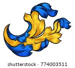 a heraldic floral filigree... | Shutterstock . vector #774003511