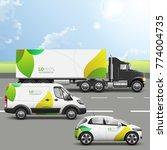 floral transport advertising... | Shutterstock .eps vector #774004735
