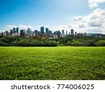 city  park   grassland  in ... | Shutterstock . vector #774006025