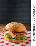 hamburger with beef  onion ... | Shutterstock . vector #774006604
