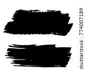 vector black paint  ink brush... | Shutterstock .eps vector #774007189