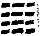 vector black paint  ink brush... | Shutterstock .eps vector #774007195