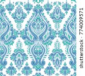 blue and green ornamental... | Shutterstock .eps vector #774009571