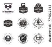 set of gym logos  labels and... | Shutterstock .eps vector #774011965