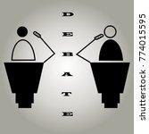 debate of two personalities in... | Shutterstock .eps vector #774015595