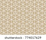 abstract geometric pattern with ... | Shutterstock .eps vector #774017629