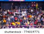 Defocused Background Of Crowd...