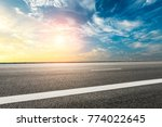 empty highway asphalt road and... | Shutterstock . vector #774022645