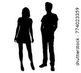 vector silhouettes of man and... | Shutterstock .eps vector #774023359