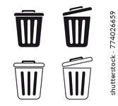 Trashcan Set   Vector Icons