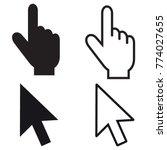 mouse pointer set   editable... | Shutterstock .eps vector #774027655