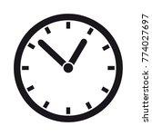 clock   editable vector icon | Shutterstock .eps vector #774027697