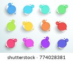 numbered abstract colorful... | Shutterstock .eps vector #774028381