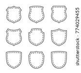 shield shape icons set. black... | Shutterstock .eps vector #774029455