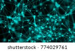 abstract connection dots.... | Shutterstock . vector #774029761