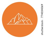 mountain peaks icon in thin... | Shutterstock .eps vector #774034069