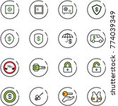 line vector icon set   safe... | Shutterstock .eps vector #774039349