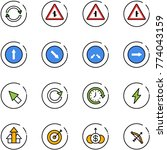 line vector icon set   exchange ... | Shutterstock .eps vector #774043159