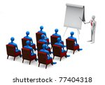 group of students and teacher... | Shutterstock . vector #77404318