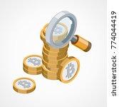 bitcoin web icon   Shutterstock .eps vector #774044419
