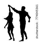 couple dancing silhouette   Shutterstock .eps vector #774045361