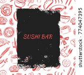 japanese cafe menu banner with... | Shutterstock .eps vector #774047395