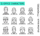 different office characters set.... | Shutterstock .eps vector #774049081