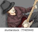 stylized sketchy illustration... | Shutterstock .eps vector #77405443