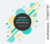 abstract circle geometric... | Shutterstock .eps vector #774057787
