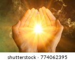 muslim human hands praying | Shutterstock . vector #774062395