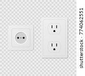 power socket set | Shutterstock .eps vector #774062551