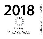 2018 loading please wait   new... | Shutterstock .eps vector #774066025