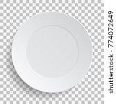 empty white dish plate... | Shutterstock .eps vector #774072649