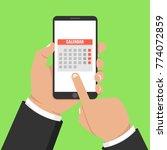 calendar  schedule  reminder ... | Shutterstock .eps vector #774072859