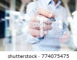 gdpr. data protection... | Shutterstock . vector #774075475