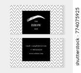 set of brow bar artist business ...   Shutterstock .eps vector #774075925
