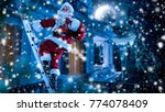 santa claus and winter time  | Shutterstock . vector #774078409
