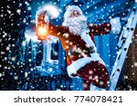 santa claus and winter time  | Shutterstock . vector #774078421