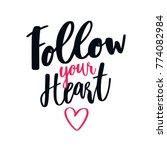 hand written love quote... | Shutterstock .eps vector #774082984