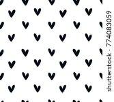 love heart seamless pattern...